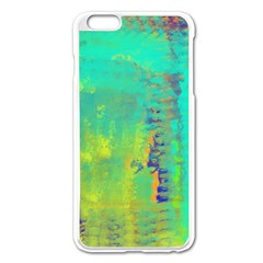 Abstract in Turquoise, Gold, and Copper Apple iPhone 6 Plus/6S Plus Enamel White Case