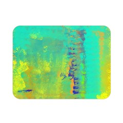Abstract in Turquoise, Gold, and Copper Double Sided Flano Blanket (Mini)