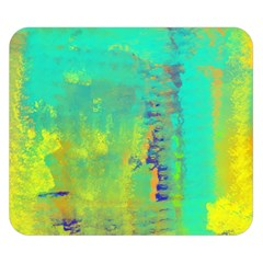 Abstract in Turquoise, Gold, and Copper Double Sided Flano Blanket (Small)