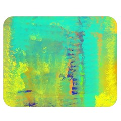 Abstract in Turquoise, Gold, and Copper Double Sided Flano Blanket (Medium)