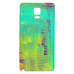 Abstract in Turquoise, Gold, and Copper Galaxy Note 4 Back Case