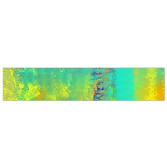 Abstract in Turquoise, Gold, and Copper Flano Scarf (Small)