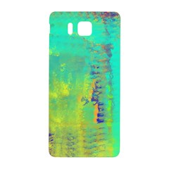 Abstract in Turquoise, Gold, and Copper Samsung Galaxy Alpha Hardshell Back Case