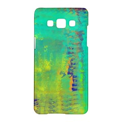 Abstract In Turquoise, Gold, And Copper Samsung Galaxy A5 Hardshell Case
