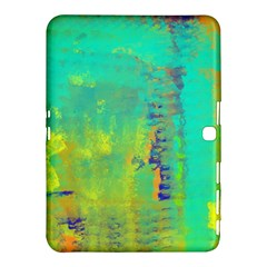 Abstract in Turquoise, Gold, and Copper Samsung Galaxy Tab 4 (10.1 ) Hardshell Case