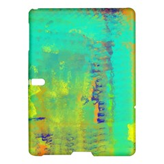 Abstract in Turquoise, Gold, and Copper Samsung Galaxy Tab S (10.5 ) Hardshell Case