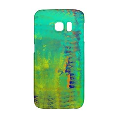 Abstract in Turquoise, Gold, and Copper Galaxy S6 Edge