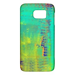 Abstract In Turquoise, Gold, And Copper Galaxy S6