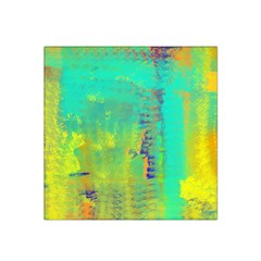 Abstract In Turquoise, Gold, And Copper Satin Bandana Scarf