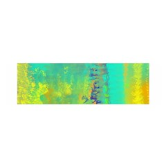 Abstract in Turquoise, Gold, and Copper Satin Scarf (Oblong)
