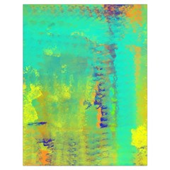 Abstract in Turquoise, Gold, and Copper Drawstring Bag (Large)