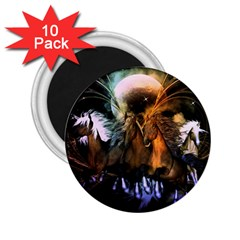 Wonderful Horses In The Universe 2 25  Magnets (10 Pack)