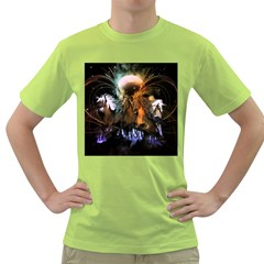 Wonderful Horses In The Universe Green T Shirt