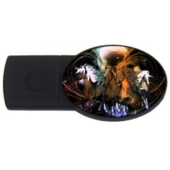 Wonderful Horses In The Universe USB Flash Drive Oval (1 GB)