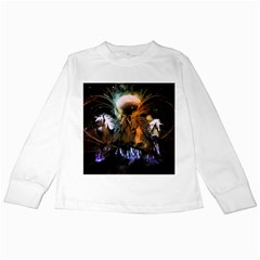 Wonderful Horses In The Universe Kids Long Sleeve T Shirts