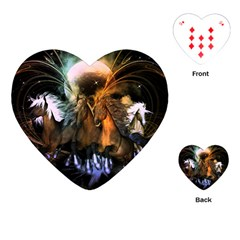 Wonderful Horses In The Universe Playing Cards (heart)