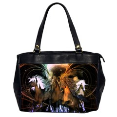 Wonderful Horses In The Universe Office Handbags (2 Sides)