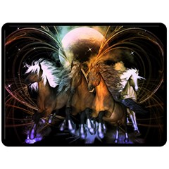 Wonderful Horses In The Universe Fleece Blanket (Large)