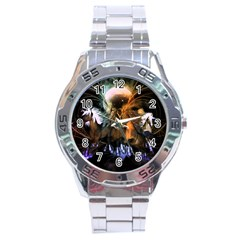 Wonderful Horses In The Universe Stainless Steel Men s Watch