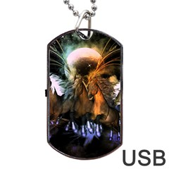 Wonderful Horses In The Universe Dog Tag Usb Flash (one Side)