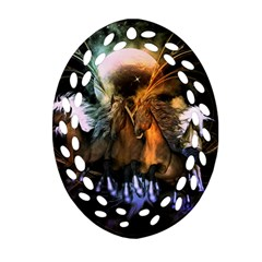 Wonderful Horses In The Universe Oval Filigree Ornament (2-Side)