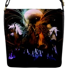 Wonderful Horses In The Universe Flap Messenger Bag (S)