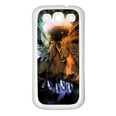 Wonderful Horses In The Universe Samsung Galaxy S3 Back Case (White)