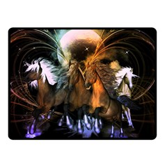 Wonderful Horses In The Universe Double Sided Fleece Blanket (small)