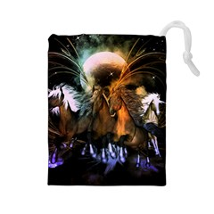 Wonderful Horses In The Universe Drawstring Pouches (Large)