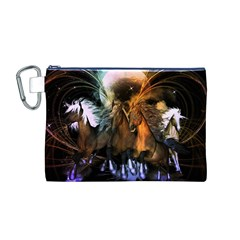 Wonderful Horses In The Universe Canvas Cosmetic Bag (M)