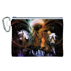 Wonderful Horses In The Universe Canvas Cosmetic Bag (L)