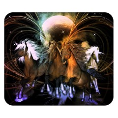 Wonderful Horses In The Universe Double Sided Flano Blanket (small)