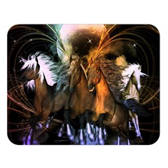 Wonderful Horses In The Universe Double Sided Flano Blanket (Large)