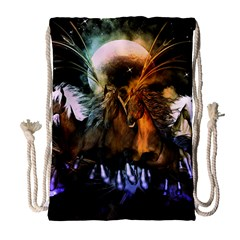 Wonderful Horses In The Universe Drawstring Bag (Large)
