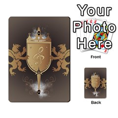 Music, Clef On A Shield With Liions And Water Splash Multi Purpose Cards (rectangle)