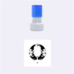Music, Clef On A Shield With Liions And Water Splash Rubber Round Stamps (small)
