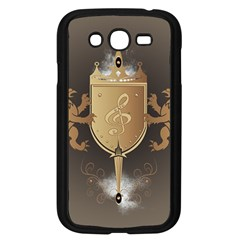 Music, Clef On A Shield With Liions And Water Splash Samsung Galaxy Grand DUOS I9082 Case (Black)