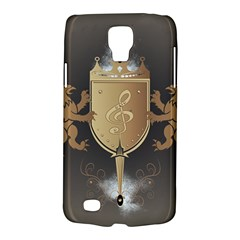Music, Clef On A Shield With Liions And Water Splash Galaxy S4 Active