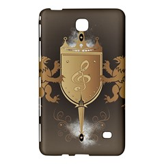 Music, Clef On A Shield With Liions And Water Splash Samsung Galaxy Tab 4 (8 ) Hardshell Case