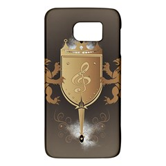 Music, Clef On A Shield With Liions And Water Splash Galaxy S6