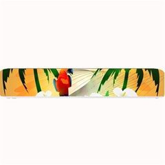Cute Parrot With Flowers And Palm Small Bar Mats
