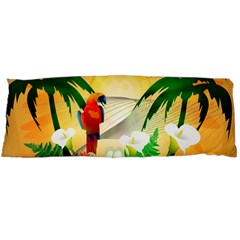 Cute Parrot With Flowers And Palm Body Pillow Cases (Dakimakura)