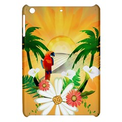 Cute Parrot With Flowers And Palm Apple iPad Mini Hardshell Case