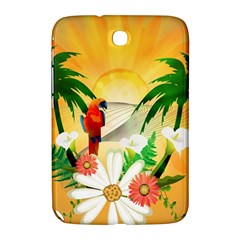 Cute Parrot With Flowers And Palm Samsung Galaxy Note 8.0 N5100 Hardshell Case