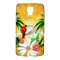 Cute Parrot With Flowers And Palm Galaxy S4 Active