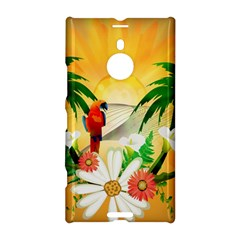 Cute Parrot With Flowers And Palm Nokia Lumia 1520