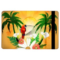 Cute Parrot With Flowers And Palm iPad Air 2 Flip