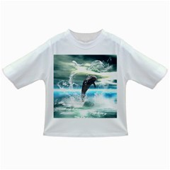 Funny Dolphin Jumping By A Heart Made Of Water Infant/toddler T Shirts