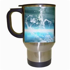 Funny Dolphin Jumping By A Heart Made Of Water Travel Mugs (white)