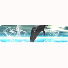 Funny Dolphin Jumping By A Heart Made Of Water Large Bar Mats